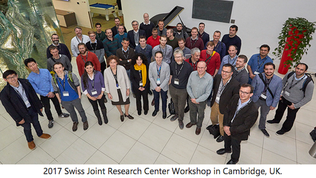 Attendees of the 2017 Swiss Joint Research Center Workshop in Cambridge, UK