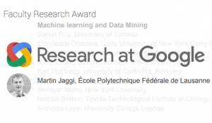 image: Martin Jaggi Wins 2016 Google Faculty Research Award