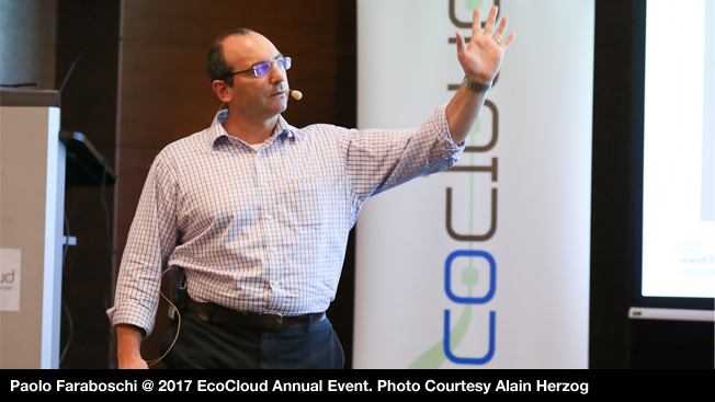 Paolo Faraboschi @ 2017 EcoCloud Annual Event. Photo Courtesy Alain Herzog