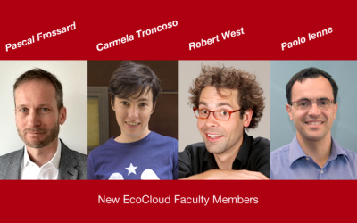 EcoCloud Welcomes New Faculty Members