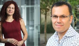 EPFL professors Anastasia Ailamaki and Babak Falsafi