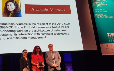 Anastasia Ailamaki Wins Highest Honor in Database Management