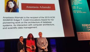 Anastasia Ailamaki Wins Highest Honor in Database Management