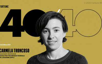 Carmela Troncoso among Fortune's 40 Under 40
