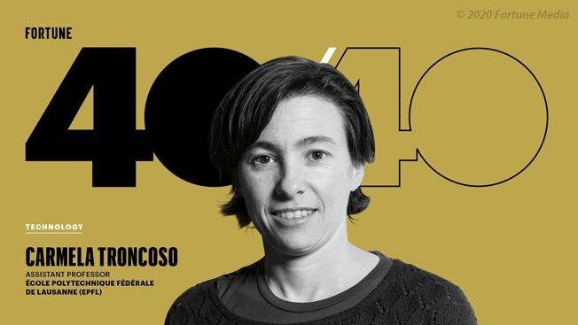 Carmela Troncoso among Fortune's 40 Under 40